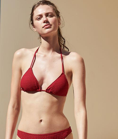 Sujetador bikini triangular suave relieve