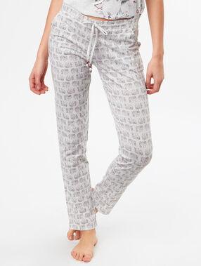 Pantalón estampado elefantes c.gris.