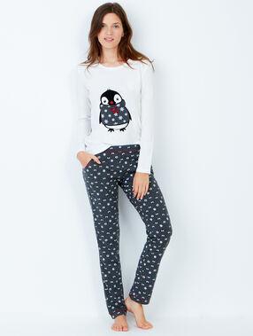 Pijama 3 piezas. chaqueta tejido peluche antracita.