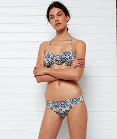 Braguita bikini multiposición imp blanco.