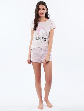 Camiseta unicornio rosa.