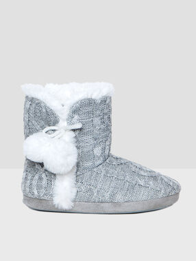 Zapatillas tipo botín forradas c.gris.