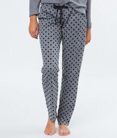 Pantalón estampado a lunares c.gris.