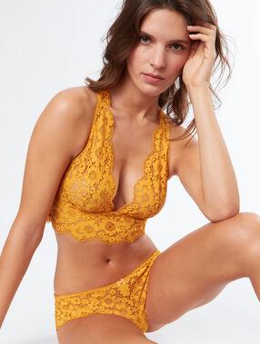 Culote de encaje floral amarillo.