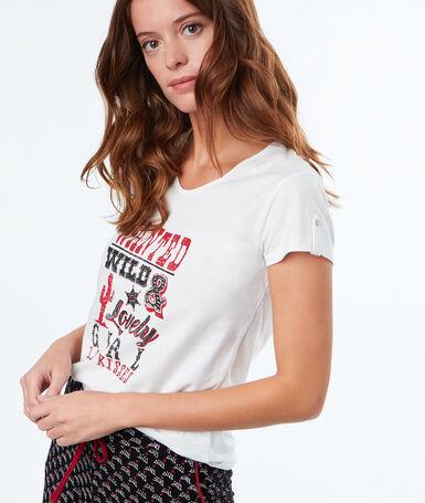 Camiseta estampada blanco.
