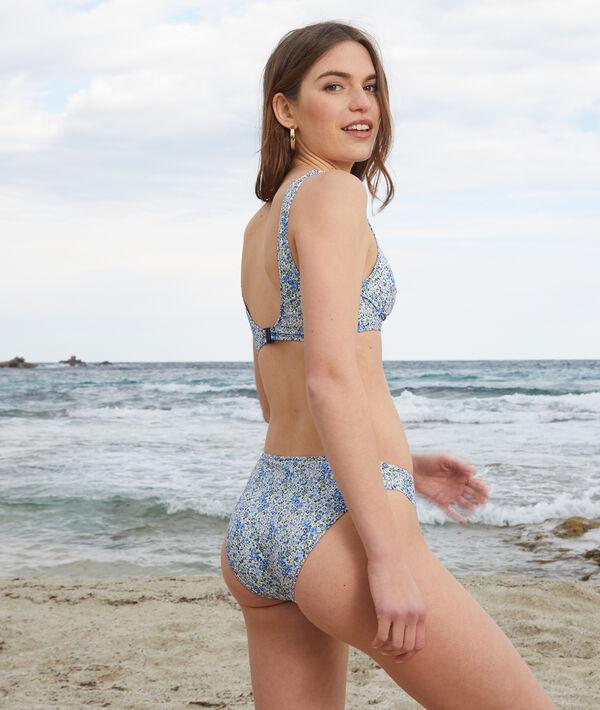 Sujetador bikini triángulo, tejido Liberty;${refinementColor}