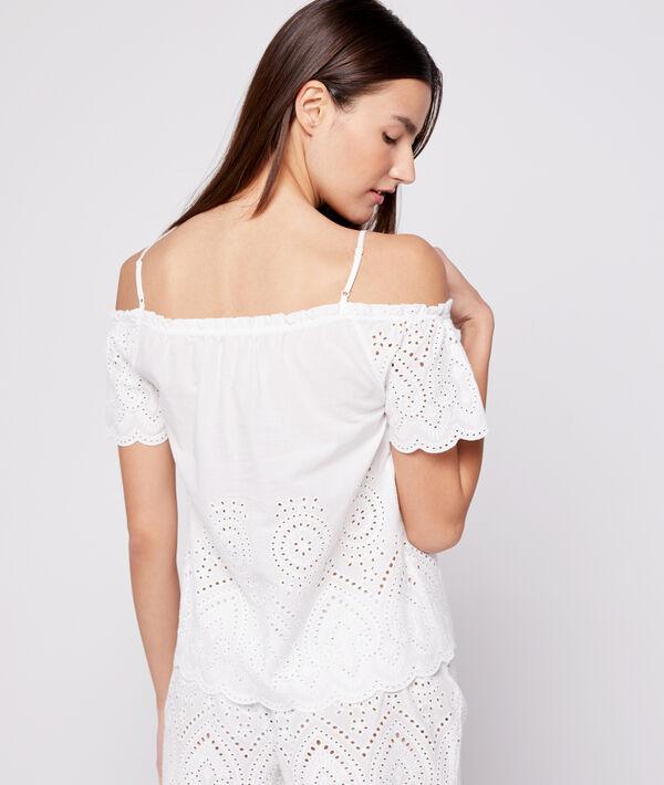 Top de algodón bordado
