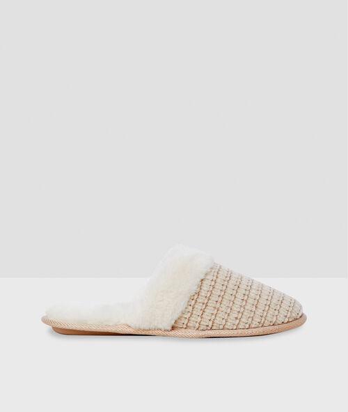 Zapatillas destalonadas con forro