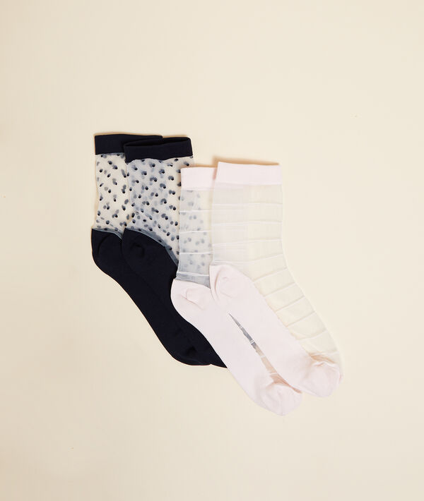 Lote de 2 pares de calcetines semitransparentes;${refinementColor}