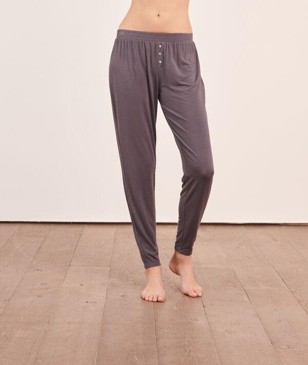Pantalón pijama liso;${refinementColor}
