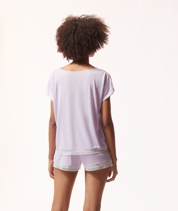 Camiseta lisa, manga corta;${refinementColor}