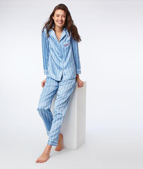 94cf5814fe Pantalón pijama satén estampado de rayas