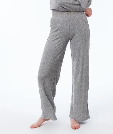 Pantalón ancho suave relieve c.gris.