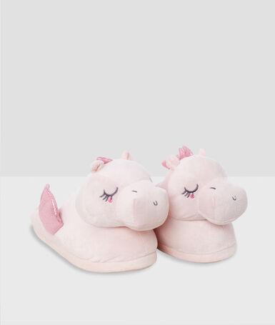 Zapatillas dragones 3d rosa.
