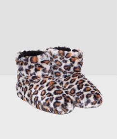Botines forrados estampado leopardo c.beige.
