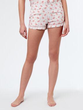 Pantalón corto estampado flamencos rosa.
