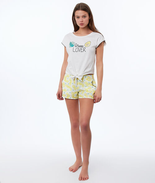 Pantalón corto estampado limones