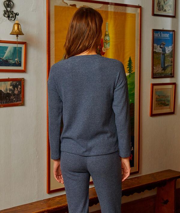Jersey fino tejido suave botones en los hombros