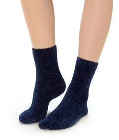 Calcetines lisos azul marino.