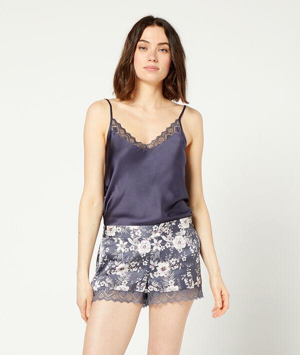 Pantalón corto estampado floral;${refinementColor}