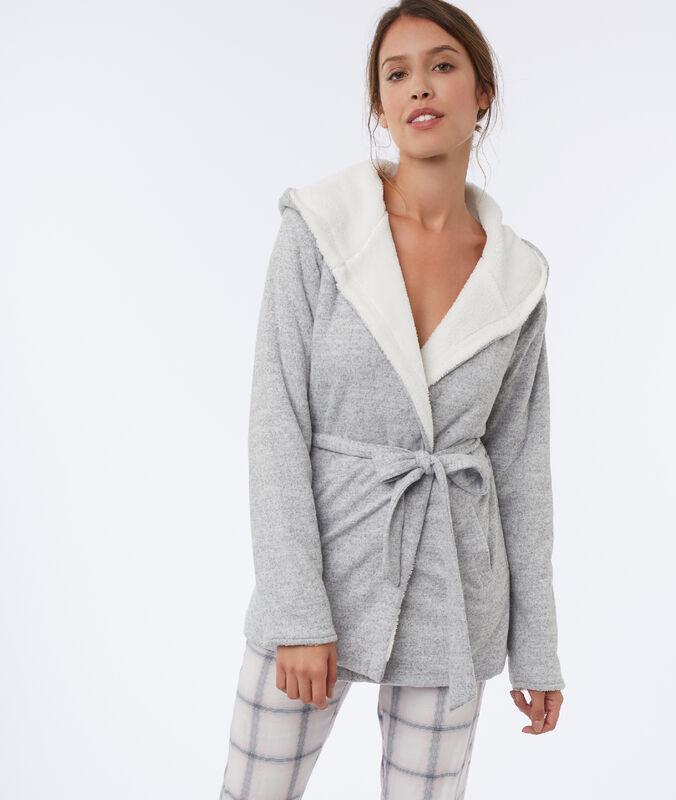 Chaqueta homewear tipo albornoz c.gris.