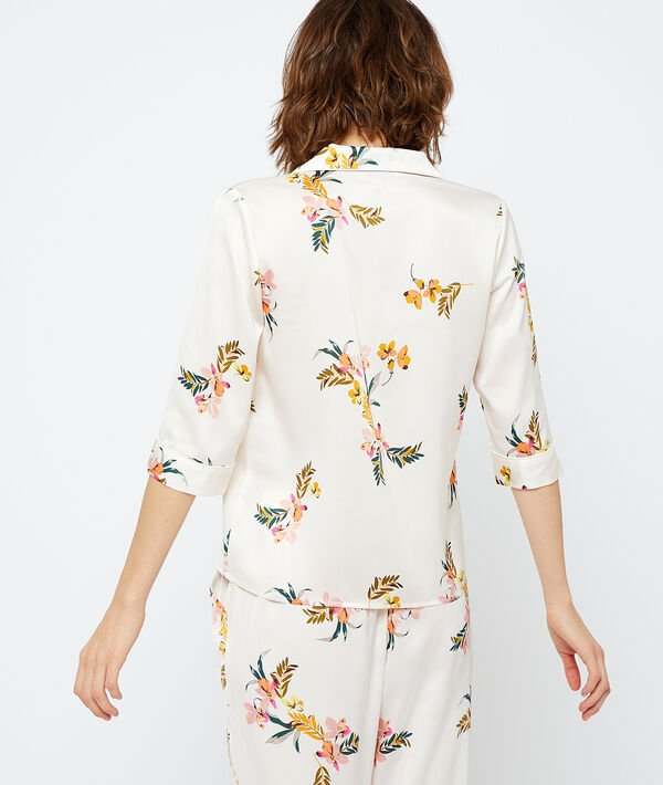Camisa pijama estampada, poliéster reciclado;${refinementColor}
