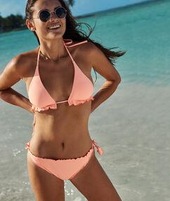 Braguita bikini lazos laterales coral.