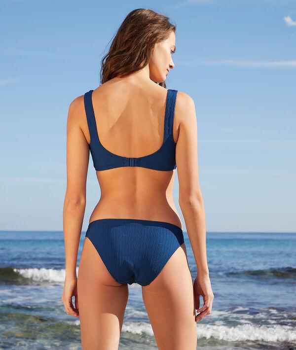 Top bikini de escote recto sin aros;${refinementColor}