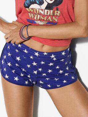 Pantalón corto wonder woman azul.