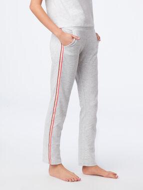 Pantalón homewear franjas laterales c.gris claro.