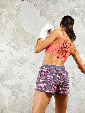 Pantalón corto de training 2 en 1 multicolor.