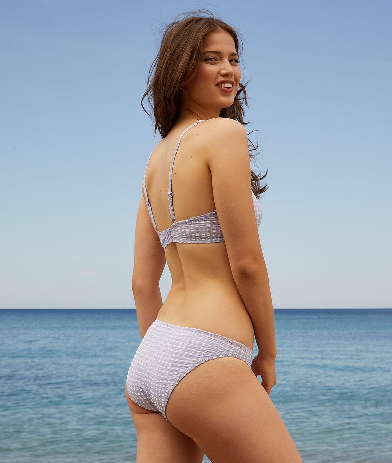 Braguita bikini estampado vichy;${refinementColor}
