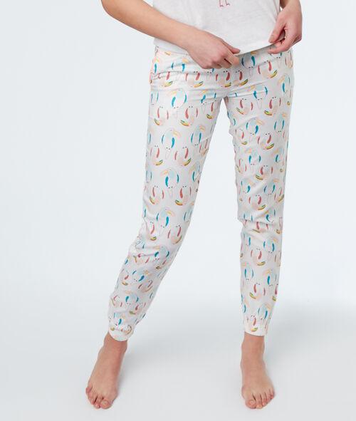 Pantalón estampado tucanes