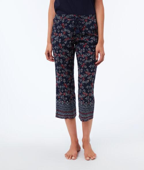Pantalón capri estampado floral