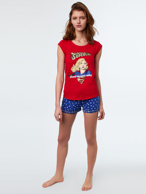 Camiseta super girl rojo.
