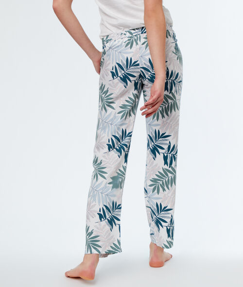 Pantalón estampado palmeras