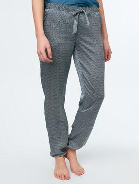 Pantalón de satén estampado c.gris.