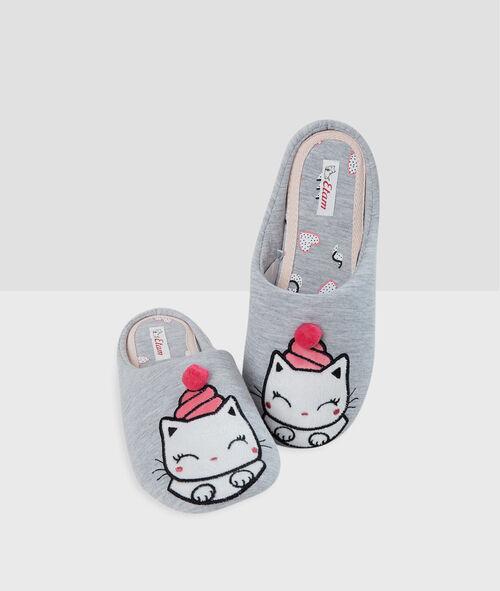 Zapatillas estampado gato