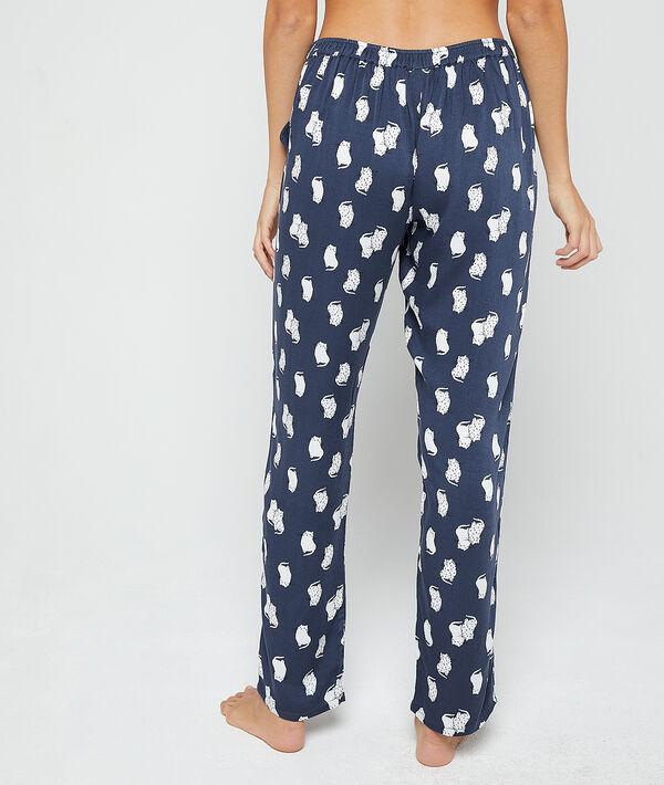 Pantalón pijama estampado gatos
