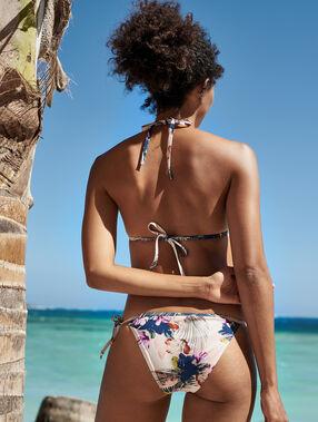 Braguita bikini lazos laterales multicolor.