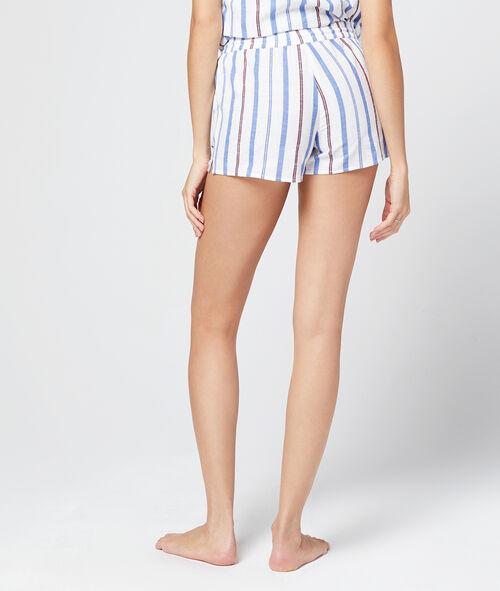 Pantalón corto algodón estampado de rayas
