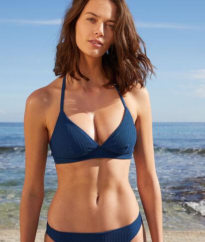 Sujetador bikini triángulo sin aros, suave relieve;${refinementColor}