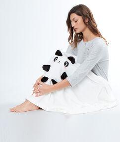 Mantita panda blanco.