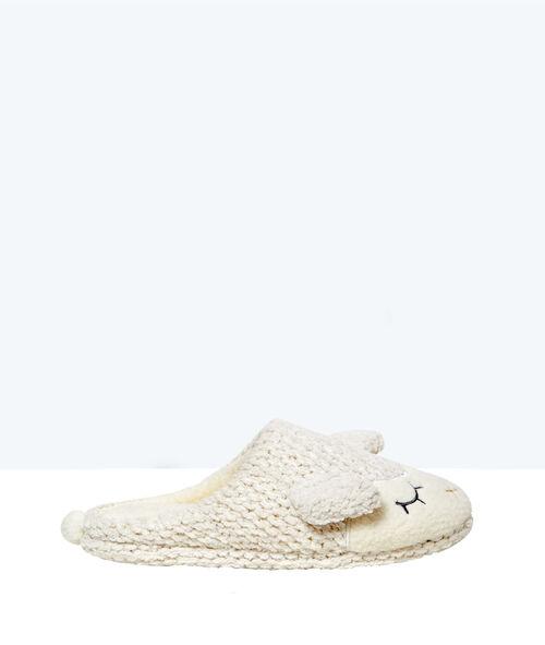 Zapatillas oveja de punto