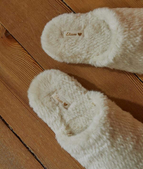 Zapatillas destalonadas forradas