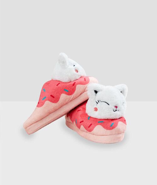 Zapatillas donut motivos gato
