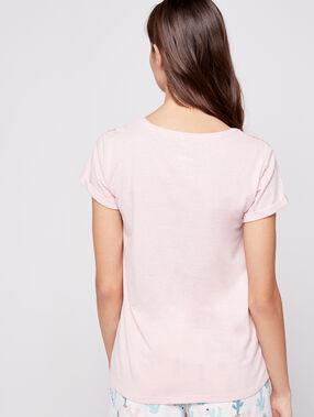 Camiseta estampado cactus rosa.
