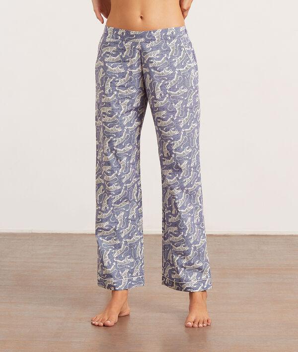 Pantalón pijama estampado tigres;${refinementColor}