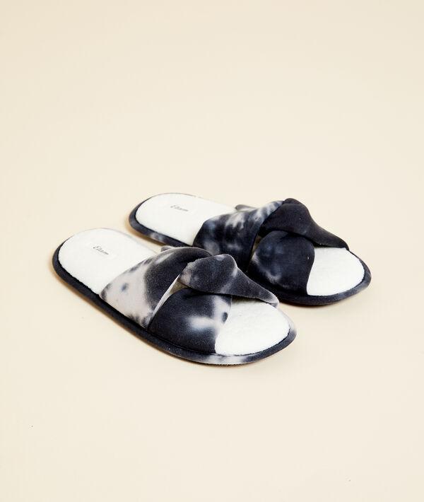 Zapatillas tipo chancla efecto tie-dye;${refinementColor}