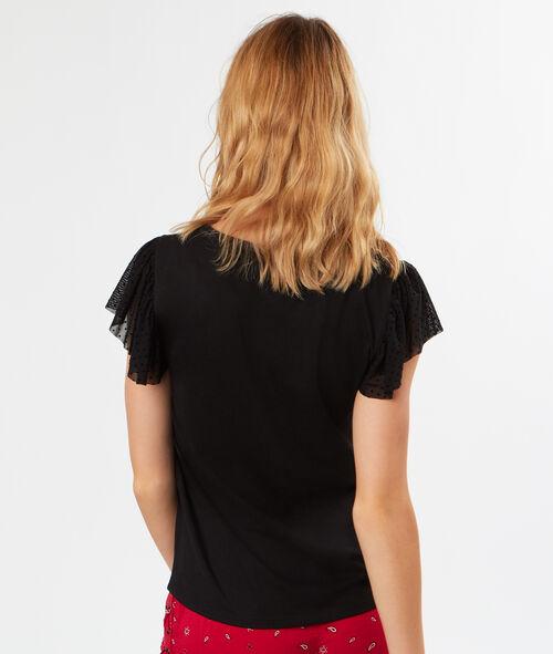Camiseta tul plumetis con volantes